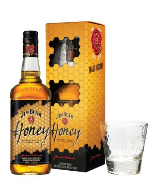 Jim Beam Honey 0,7l box + sklenice
