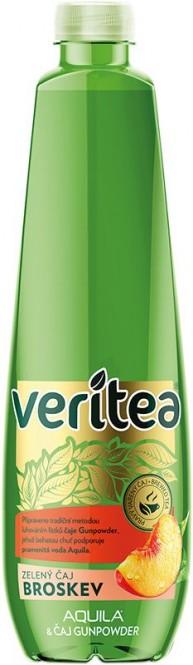 Veritea zelený čaj s broskví 0,5l - PET