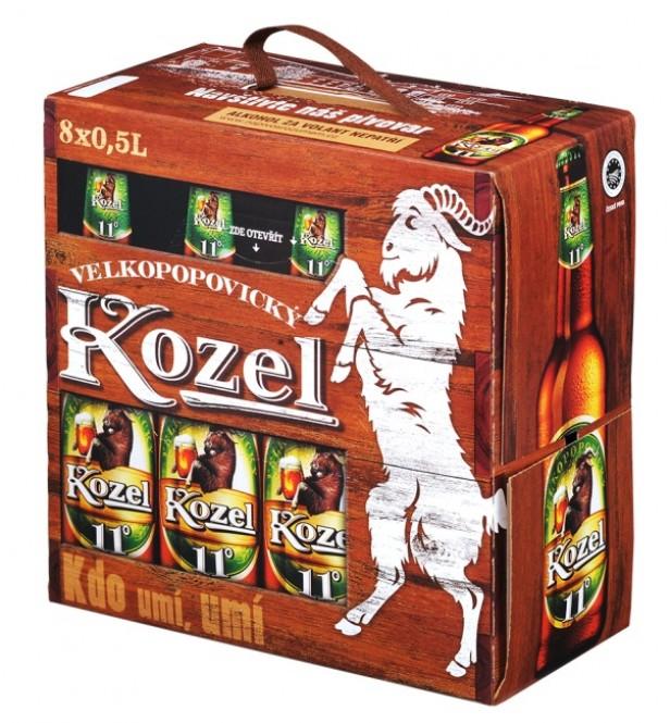 Velkopopovický Kozel 11 medium multipak 8x0,5l - vratná lahev