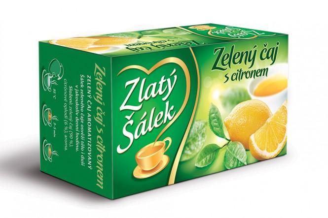 Zlatý Šálek Zelený čaj s citronem 20x1,5g