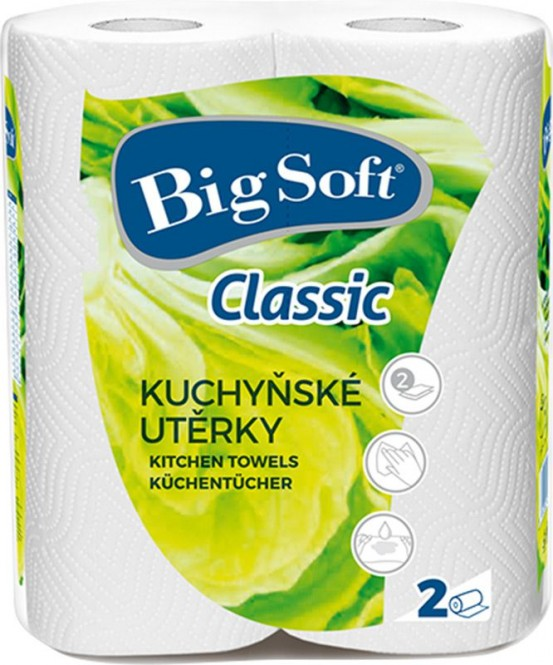 Kuchyňské utěrky Big Soft classic 2x51