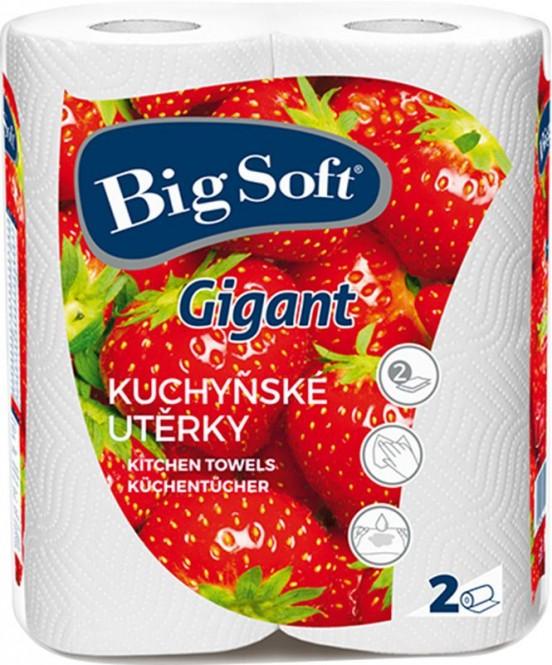 Kuchyňské utěrky Big Soft gigant 2x80