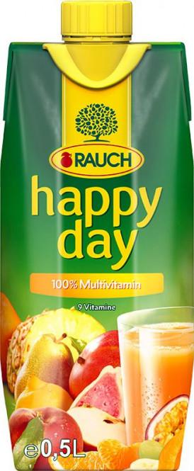 Rauch Happy day multivitamin 100% 0,5l