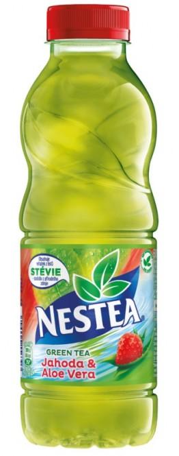Nestea Zelený čaj jahoda & aloe 0,5l - PET