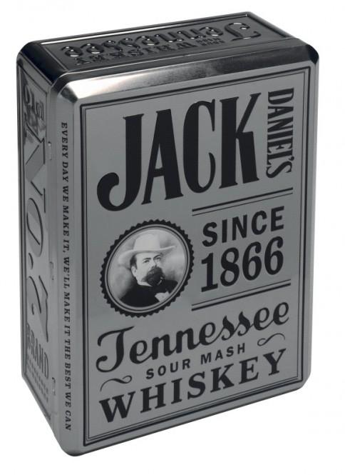 Jack Daniels Tennessee Whiskey 0,7l plech kazeta + 2 sklenice