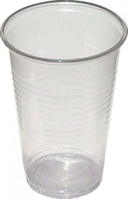 Kelímek plastový transparentní 0,3l - 100 ks