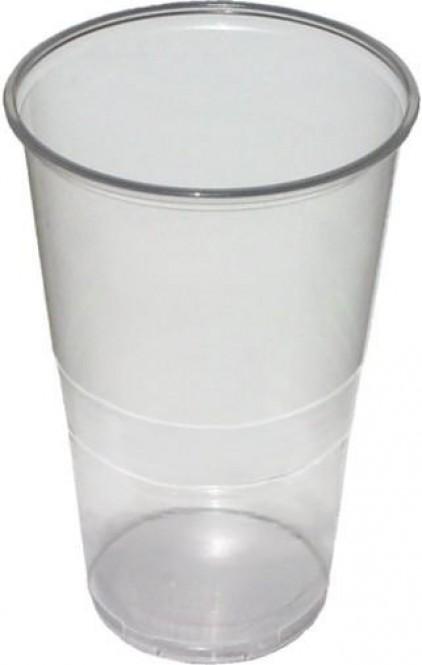 Kelímek plastový transparentní 0,5l - 50 ks