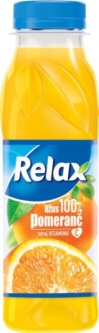 Relax pomeranč 100% 0,3l PET