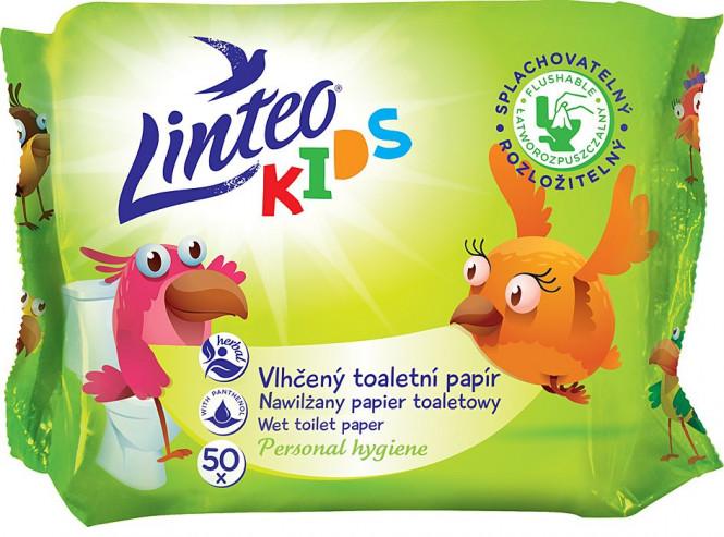 Vlhčený toaletní papír Linteo Kids 50ks