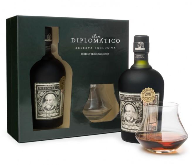Diplomático Reserva Exklusiva 0,7l kazeta + 2x sklenička