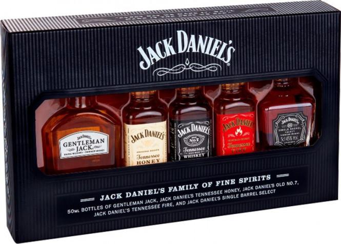 Jack Daniels Tennessee mini set 5x 0,05l