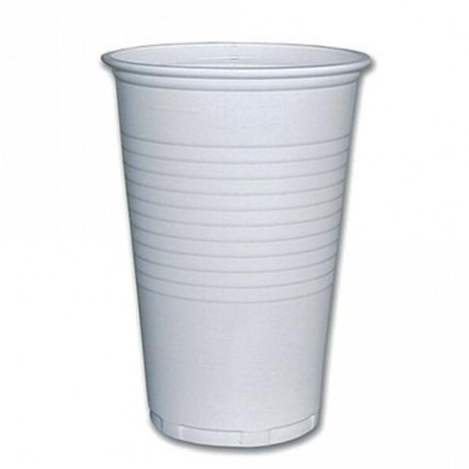 Kelímek plastový bílý 0,2l - 100 ks