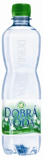 Dobrá voda jemně perlivá 0,5l - PET