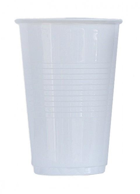 Kelímek plastový bílý 0,3l - 100 ks