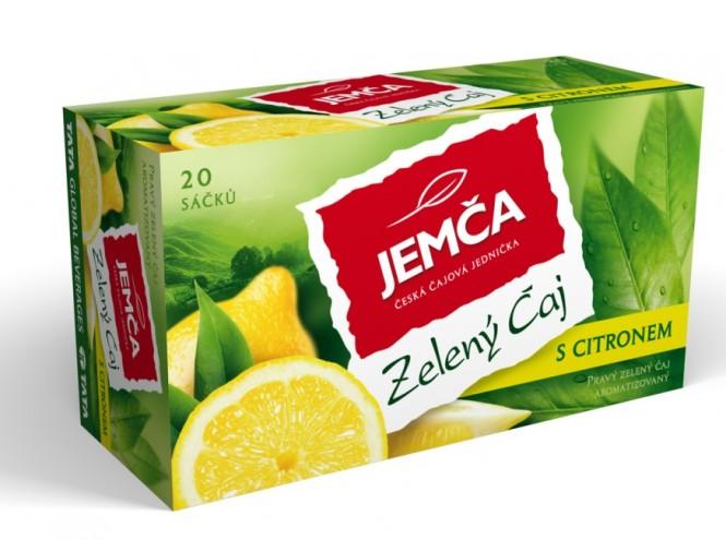 Jemča Zelený čaj s citronem 20x1.5g