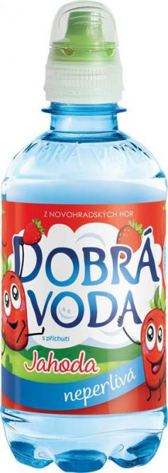 Dobrá voda neperlivá Jahoda 0,33l - PET