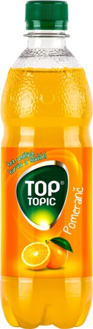 Top Topic pomeranč 0,5l - PET