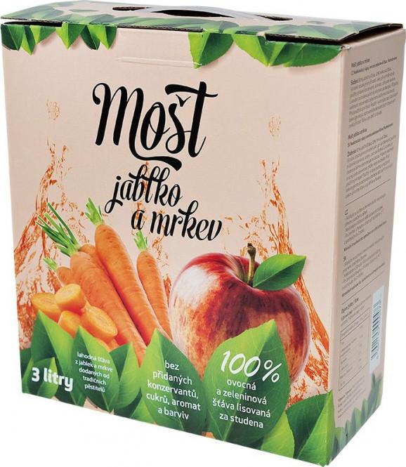 Mošt jablko a mrkev 100% 3l