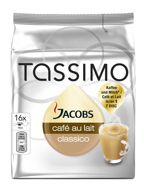 Jacobs Tassimo Cafe Au Lait 184g