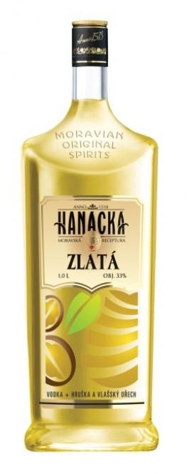 Hanácká vodka zlatá 1l