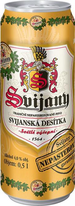 Svijanská desítka 10% 0,5l - plech