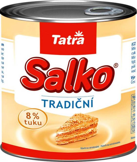 Tatra Salko zahuštěné mléko slazené 8% 1kg - plech