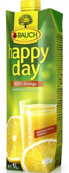 Rauch Happy Day pomeranč s dužinou 100% 1l