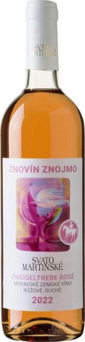 Svatomartinské Zweigeltrebe rosé 0,75l - Znovín