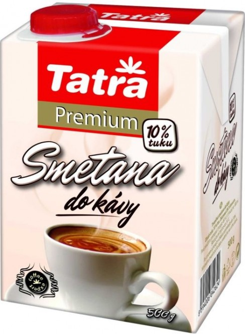 Smetana do kávy 10% Tatra Premium 500ml