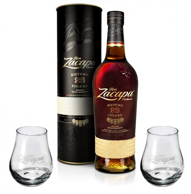 Ron Zacapa Centenario 23 Aňos 1l + 2x sklenička
