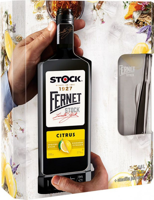 Fernet Stock citrus 0,5l - kazeta + sklo