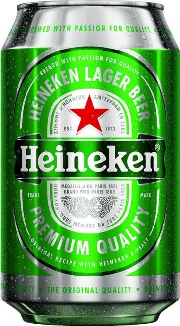 Heineken 0,33l - plech (24 ks)