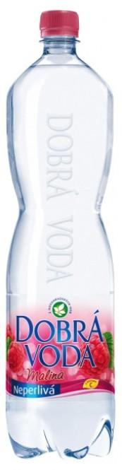 Dobrá voda neperlivá Malina 1,5l - PET