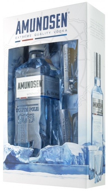 Amundsen vodka Expedition 1911 - 0,5l + 2x sklo