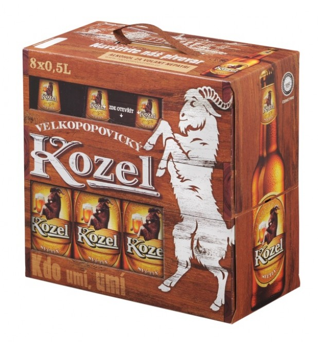 Velkopopovický Kozel světlý 0,5l - multipak 8x0,5l vratná lahev