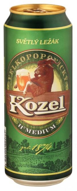 Velkopopovický Kozel 11 medium 0,5l - plech