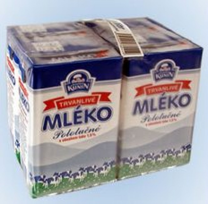 Kunín mléko trvanlivé polotučné 1,5% 4 x 1l