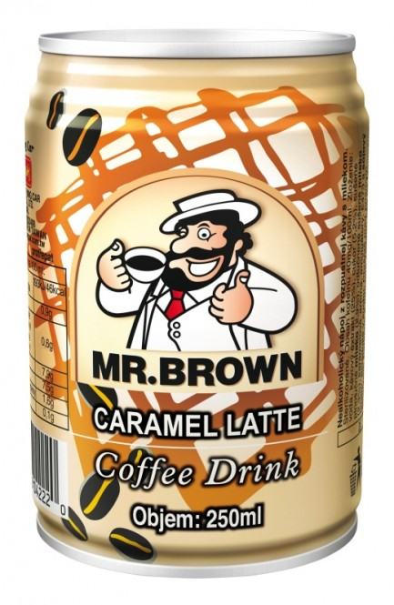 Mr. Brown Caramel latte 0,25 l plech